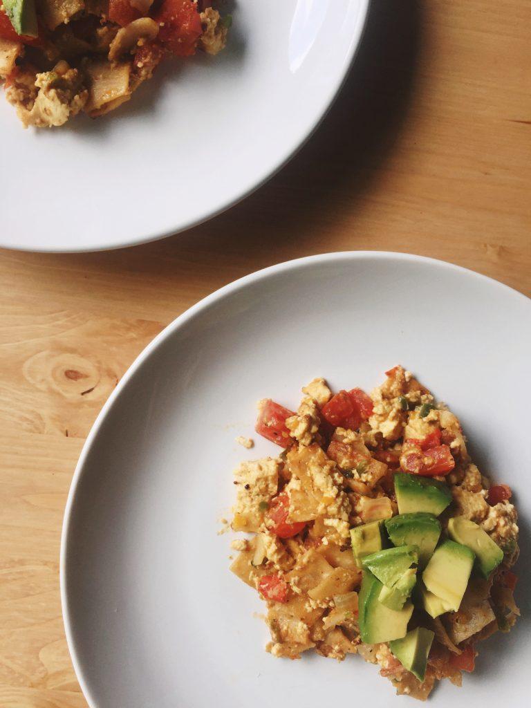 tofu migas on a plate
