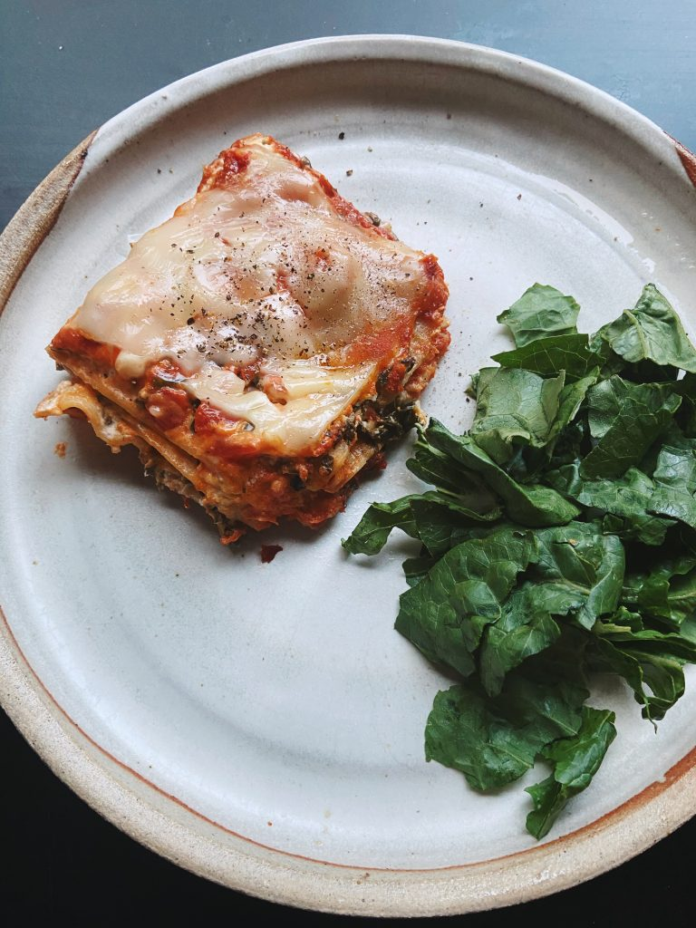 vegan lasagna florentine